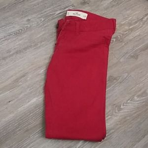 Hollister red skinny jeans